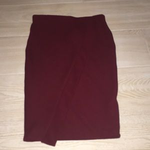 this is a maroon skirt